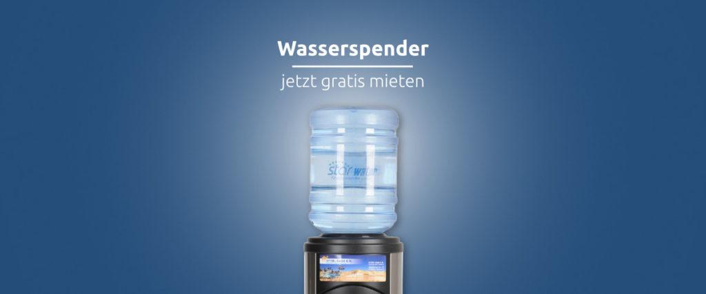 Aktion gratis Wasserspender mieten
